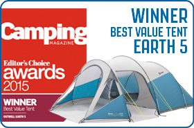 Outwell Earth 5 Tent Camping Magazine Awards 2015